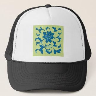 Boné Flor oriental - azul do Snorkel & verde do