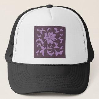 Boné Flor oriental - chocolate do Lilac & da cereja