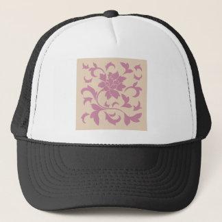 Boné Flor oriental - morango Latte