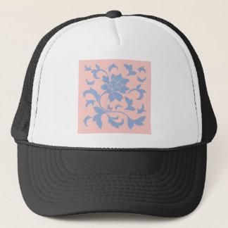 Boné Flor oriental - quartzo azul & cor-de-rosa da