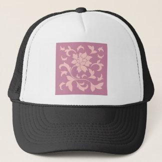 Boné Flor oriental - quartzo cor-de-rosa & morango