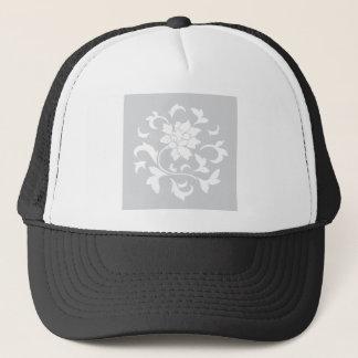 Boné Flor oriental - teste padrão circular de prata