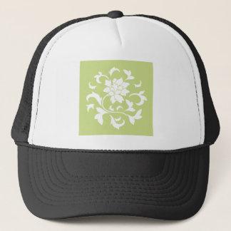 Boné Flor oriental - teste padrão circular verde do