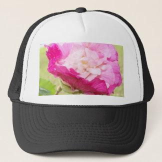 Boné flor variável do rosa e a branca do hibiscus