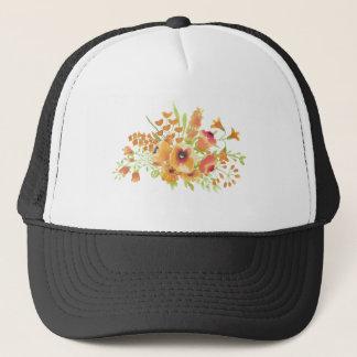 Boné Flores das aguarelas