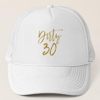 Boné Folha de ouro suja de 30 aniversários e chapéu