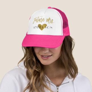 Boné Folha e rosa de ouro futura da Sra. Falso com