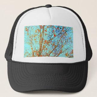 Boné Folhas da laranja do outono e céu azul