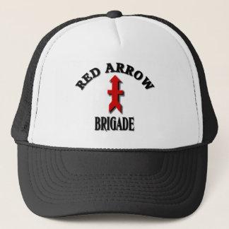 Boné Forças armadas vermelhas da brigada da seta