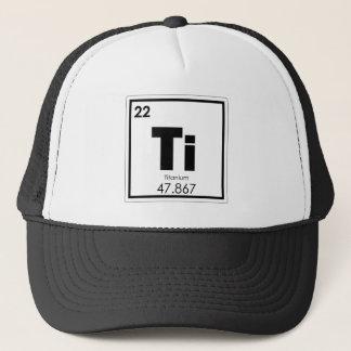 Boné Fórmula Titanium da química do símbolo do elemento