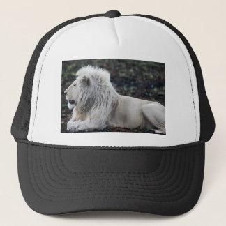 Boné Foto branca africana do perfil do leão