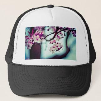 Boné Foto Pastel da flor de cerejeira