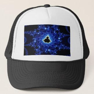 Boné Fractal preto e azul de Mandelbrot