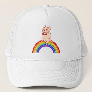 Boné Frenchie comemora o mês do orgulho no arco-íris de