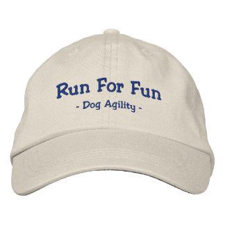 Boné Funcione para o chapéu bordado agilidade do cão do
