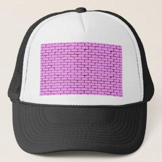 Boné Fundo cor-de-rosa largo da parede