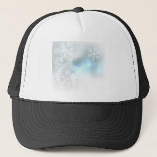 Boné Fundo dos cristais de gelo dos flocos de neve do