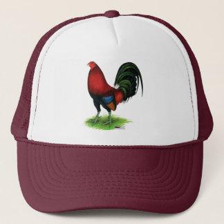 Boné Gamecock:  Escuro - vermelho