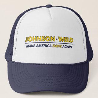 Boné Gary Johnson/chapéu são do libertário América da