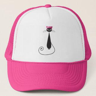 Boné Gato cor-de-rosa do gatinho do chapéu