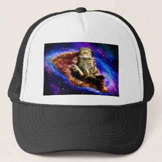 Boné gato da pizza - gato louco - gatos no espaço