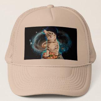Boné gato do DJ - gato do espaço - pizza do gato -