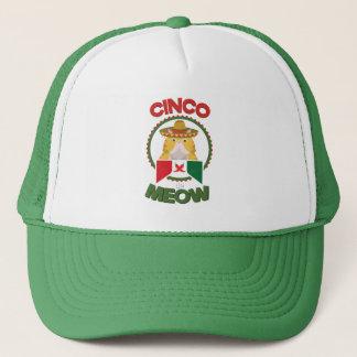 Boné Gato engraçado para o feriado do mexicano de Cinco