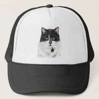 Boné Gato preto e branco