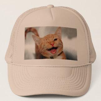 Boné Gato que pisc - gato alaranjado - gatos engraçados