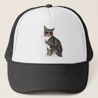 Boné Gato que veste vidros do coração