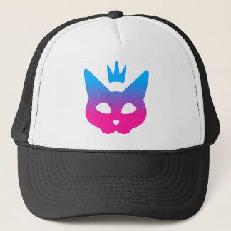 Boné Gato real - azul e rosa