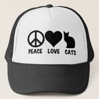 Boné Gatos do amor da paz