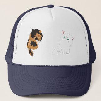 Boné Gatos em sua cabeça