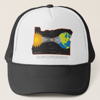 Boné Geometria do eclipse 2017 solar através das