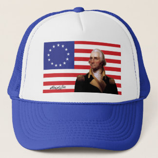 Boné George Washington & bandeira de 13-Star E.U.