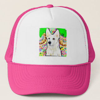 Boné German shepherd branco Bling