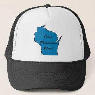 Boné Gire Wisconsin azul! Orgulho Democrática!