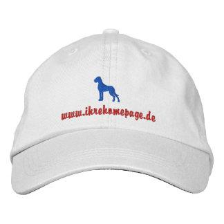 Boné Gorro Bestickte Doggen
