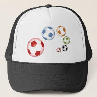 Boné Grupo bonito de bolas de futebol