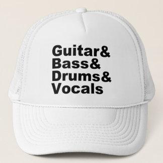 Boné Guitar&Bass&Drums&Vocals (preto)