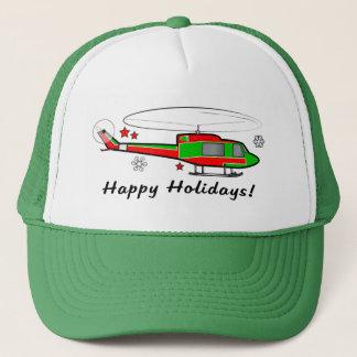Boné Helicóptero do Natal na neve