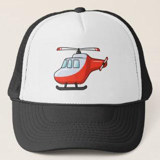 Boné Helicóptero vermelho e branco legal dos desenhos