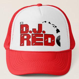 Boné Ho Brah! …, chapéu de D.J. VERMELHO VinyleTrucker