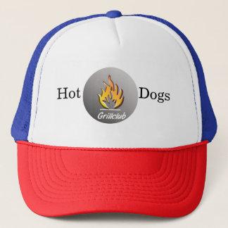 Boné Hot Dogs grelha Trucker touca de banho