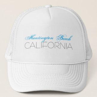 Boné Huntington Beach, CALIFÓRNIA azul e preta