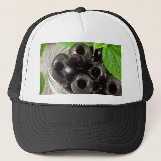 Boné Ideia macro detalhada das azeitonas pretas