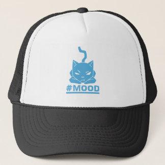 Boné Ilustração azul do logotipo do gato do #MOOD