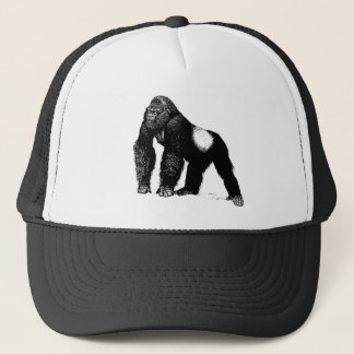 Boné Ilustração do gorila do Silverback do vintage,