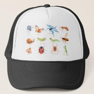 Boné Ilustração do inseto da aguarela