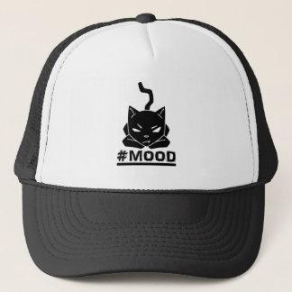 Boné Ilustração do logotipo do preto do gato do #MOOD